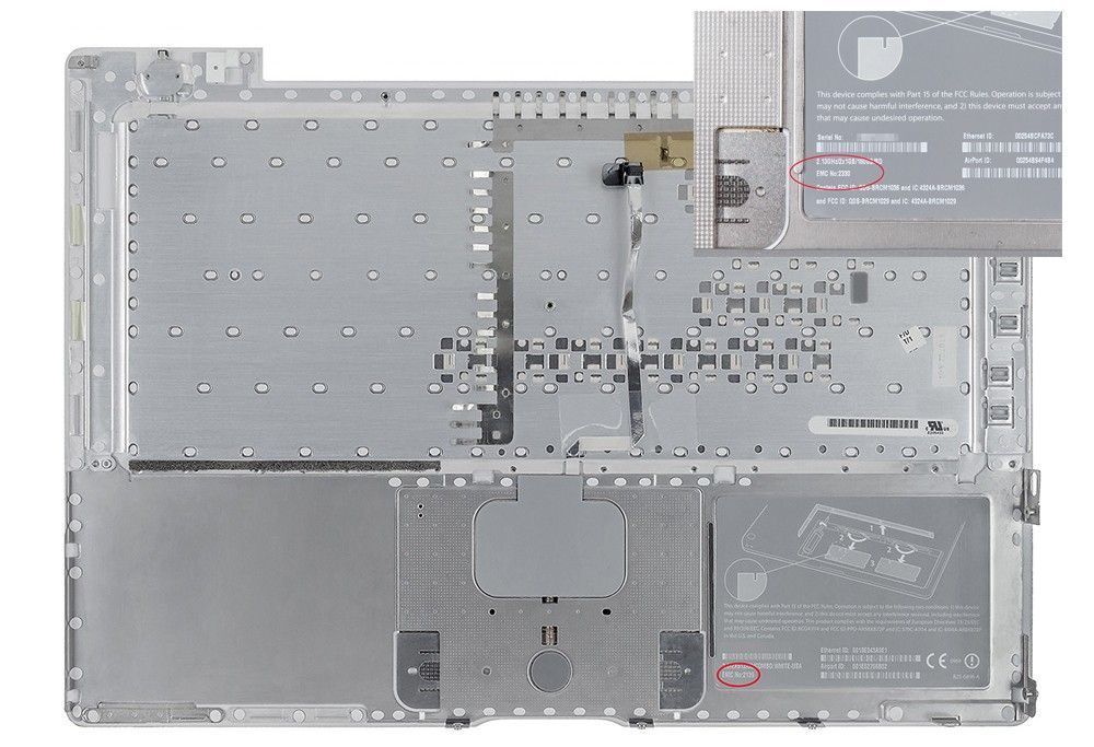 MacBook Pro EMC Number location battery compartment